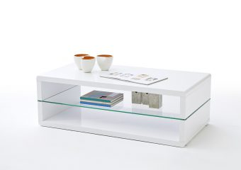 Okrągły czy kwadratowy stolik kawowy biały?